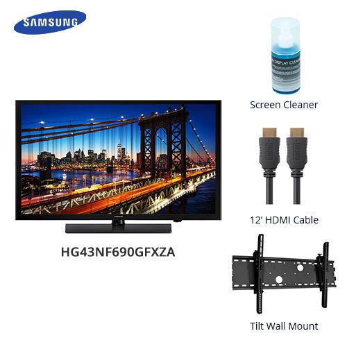 samsung 690 series 43 inch premium direct lit led tv bundle