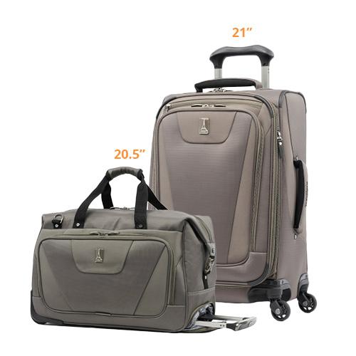 travelpro maxlite 4 2 piece set spinner 21 20.5 tote