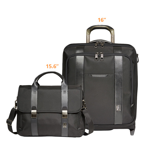 travelpro execchoice 2 piece 16 15.6 black