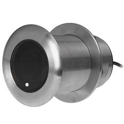 """Product # 000-13909-001 <br /><br /> <ul> <li><span class=""""blackbold"""">Transducer</span></li> <li>Thru-Hull Style</li> <li>Low Profile Housing</li> <li><span class=""""bluebold"""">600W Transmit Power</span></li> <li>80-130 KHz Medium CHIRP</li> <li>Beamwidth of 24&deg;-16&deg;</li> <li>Up to 11M (36') Range</li> <li>Cable Length 10M</li> <li>9 Pin Connector</li> <li>Highly Accurate</li> </ul>"""