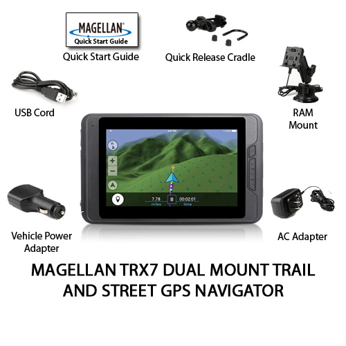 magellan explorist trx7 with ram dual mount