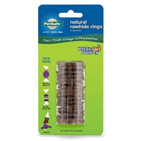 petsafe busy buddy natural rawhide rings