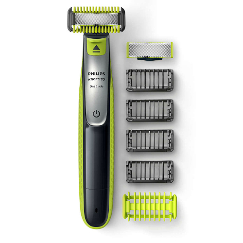 norelco oneblade face   body hybrid electric trimmer and shaver qp2630/70