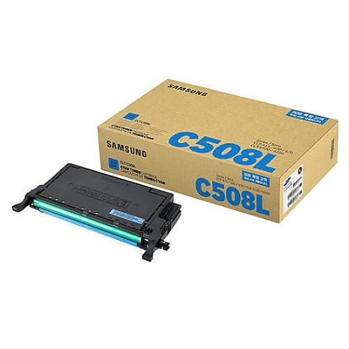 samsung clt c508l high yield cyan toner cartridge
