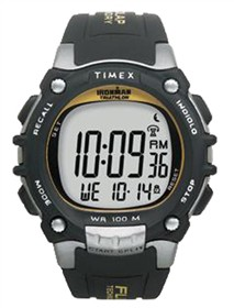timex ironman traditional 100 lap black and silver