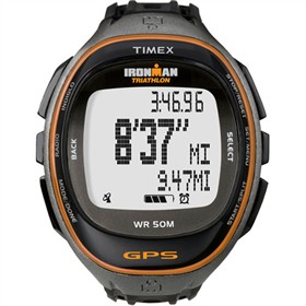 timex run trainer gps watch only black orange
