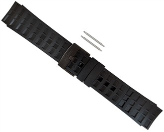 suunto elementum terra rubber watch strap all black