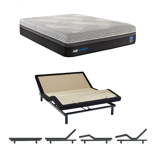 sealy hybrid performance copper ii firm cal king size mattress and adjustable base