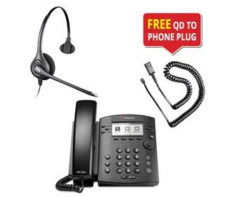 polycom vvx 300 w plantronics supraplus hw251n headset