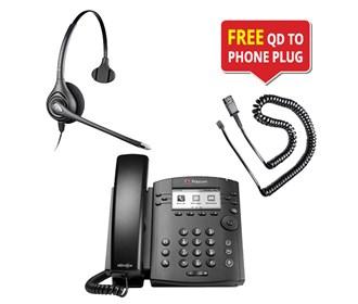 polycom vvx 310 w plantronics supraplus hw251n headset