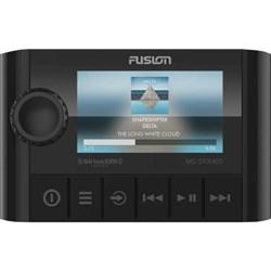 "Product # 010-01983-00 <br /> <ul> <li><span class=""blackbold"">Stereo / Remote</span></li> <li>FUSION's Compace Zone Stereo (Party Bus) Capable</li> <li>HD Bluetooth Streaming</li> <li><span class=""bluebold"">Built-in AM/FM Radio Tuner</span></li> <li>High Quality Audio Through DSP</li> <li>Touch Display</li> <li>Easy to Install</li> </ul>"