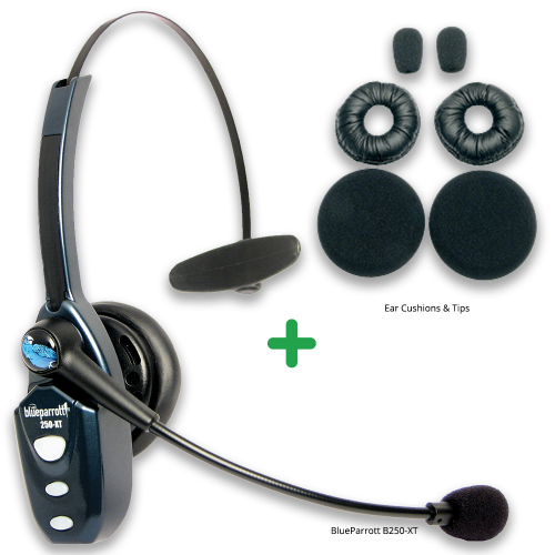 668aad00966 Details about Blueparrott B250-XT Bluetooth Headset with Ear/Mic Refresher  Cushion Kit