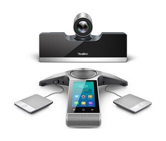 yealink video conferencing endpoint phone with wired mic pods