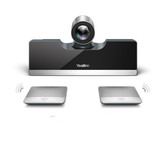 yealink video conferencing endpoint with wireless mic pods