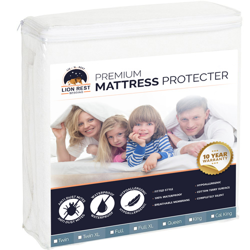 lion rest fitted mattress protector twin size