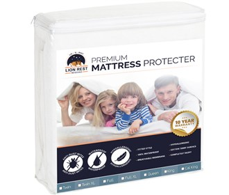 lion rest fitted mattress protector twin xl size