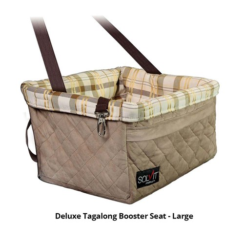 petsafe deluxe tagalong booster seat large
