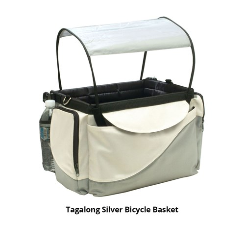 petsafe tagalong silver bicycle basket