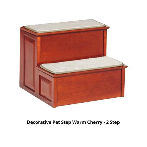 solvit decorative pet step warm cherry 2 step