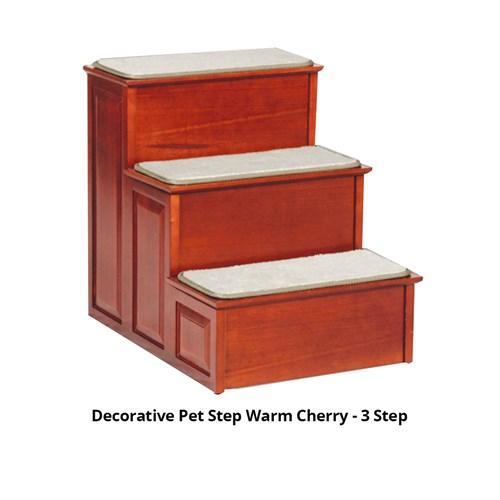 solvit decorative pet step warm cherry 3 step