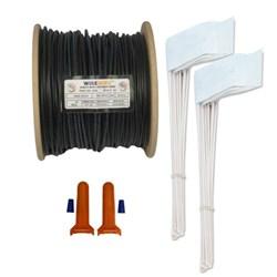 "<ul>   <li><span class=""blackbold"">Wire Kit</span></li>   <li><span class=""bluebold"">1000' 16G Wire, 100 Flags &amp; 2 Splices</span></li>   <li>Heavy Duty &amp; Eco-friendly</li>   <li>Corrosion Resistant</li>   <li>RoHS Compliant</li> </ul>"