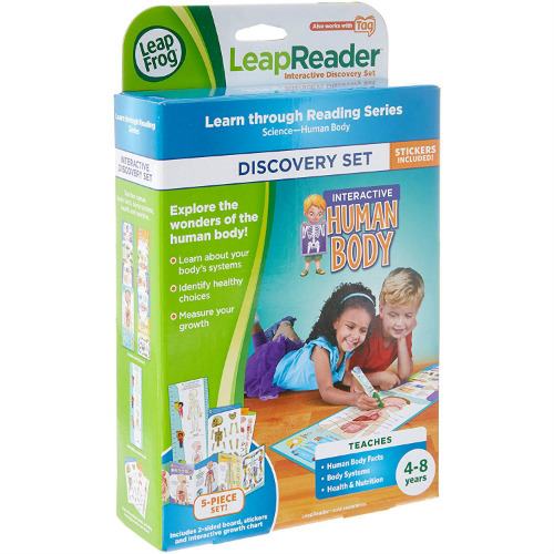 leapreader interactive human body discovery set by vtech