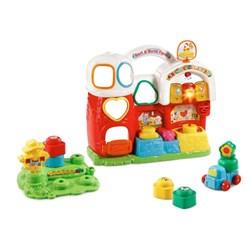 "Product # 80-504800 <br/> <ul> <li><span class=""bluebold"">Early Devlopment Toys</span></li> <li>Build Motor Skills</li> <li><span class=""redbold"">Three Light-Up Buttons</span></li> <li>Brightly Colored Shapes<br/></li> <li>Two Modes of Play</li> <li>125+ Songs, Mmelodies, Sounds &amp; Phrases</li> <li>Requires 2 AA Batteries</li> </ul>"