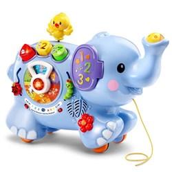 """Product # 80-505800 <br/> <ul> <li><span class=""""bluebold"""">Learning Toy</span></li> <li>10 Fun Activities</li> <li><span class=""""redbold"""">Light-Up buttons</span></li> <li>Develops Shape Sorting Skills</li> <li>Elephant's Trunk Features a Spinning Ball</li> <li>90+ Songs, Melodies, Sounds &amp; Phrases</li> <li>Requires 3 AAA Batteries</li> </ul>"""