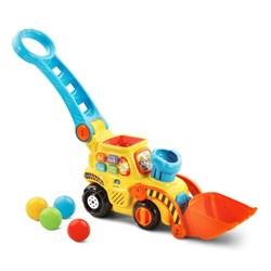 """Product # 80-506000 <br/> <ul> <li><span class=""""bluebold"""">Learning Toy</span></li> <li>Pop &amp; Play Bulldozer</li> <li><span class=""""redbold"""">Different Learning Activities</span></li> <li>75+ Songs, Melodies, Sounds &amp; Phrases</li> <li>Light-Up Button</li> <li>Develops Hand-Eye Coordination</li> <li>Automatic Shut-Off</li> <li>Requires 2 AAA Batteries</li> </ul>"""