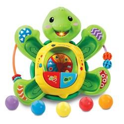 """Product # 80-506100 <br/> <ul> <li><span class=""""bluebold"""">Learning Toy</span></li> <li>Twirl &amp; Pop Turtle</li> <li><span class=""""redbold"""">Different Learning Activities</span></li> <li>75+ Songs, Melodies, Sounds &amp; Phrases</li> <li><span class=""""blackbold"""">2 Play Modes</span></li> <li>Light-Up Mouth</li> <li>Automatic Shut Off</li> <li>Requires 4 AA Batteries</li> </ul>"""