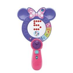 """Product # 80-161700 <br/> <ul> <li><span class=""""bluebold"""">Learning Toy</span></li> <li>Style Mirror</li> <li><span class=""""redbold"""">Different Learning Activities</span></li> <li>LED Light Panel</li> <li>Selector Wheel</li> <li>Minnie Mouse's Voice</li> <li>Automatic Shut-Off</li> <li>Requires 2 AAA Batteries</li> </ul>"""
