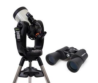 celestron cpc deluxe 800 edgehd with binocular