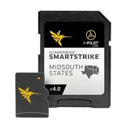 "Product # 600037-4 <br /><br /> <ul> <li><span class=""blackbold"">Smartstrike Midsouth Map Card</span></li> <li>i-Pilot Link Compatible </li> <li>Easy to Read Contours</li> <li>Depth Highlight Range</li> <li>Water Level Offset</li> <li>Shallow Water Highlight</li> <li>Scrollable Lake List</li> <li><a href=""javascript:openWindow('https://www.fosimg.com/content/pdf/humminbird/ss_midsouthv4.pdf')"" class=""pdf"">Full Lake List</a></li> </ul>"