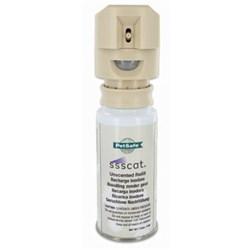 "<ul> <li><span class=""blackbold"">Motion-Activated Repellent Deterrent</span></li> <li><span class=""bluebold"">Repels Cats Up To 3 Feet Away</span></li>  <li>Scentless Spray Avoids Allergic Reactions</li> <li>Easy to Use</li> <li>Can Also Be Used for Other Small Animals</li> <li>Includes Unscented Spray-Can</li> </ul>"