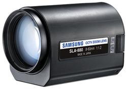 "Product # SLA-880  <ul> <li><span class=""blackbold"">1/2"" & 1/3"" Motorized Zoom Lens</span></li> <li>VGA Resolution</li> <li>Focal Length: 8 To 80mm (10x)</li> <li><span class=""bluebold"">DC Auto Iris</span> <li>F1.2 Aperture</li> <li>C Mount</li> </ul>"