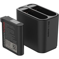 <ul>  <li>Charge Two Batteries at Once</li> <li>For VIRB Ultra 30</li> <li>Additional Battery Included</li> <li>1250mAh Li-Ion Battery</li> </ul>