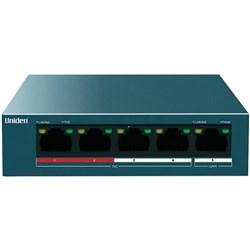 "Product # UCSWITCH5 <br /> <ul> <li><span class=""blackbold"">5-Port PoE Add-On Switch</span></li> <li>Expand Cloud System Upto 4 Additional Cameras</li> <li><span class=""bluebold"">Provides Data &amp; Power Over Ethernet (PoE)</span></li> <li>Smaller &amp; Easier to Setup than DVR</li> <li>4 PoE Port & 1 Uplink Port</li> <li>10/100 Ethernet Port Speed </li> <li>1-2 High Priority Ports</li> <li>1 Gbps Switching Capacity</li> </ul>"