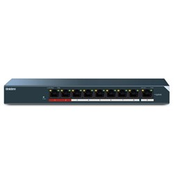 "Product # UCSWITCH9 <br /> <ul> <li><span class=""blackbold"">9-Port PoE Add-On Switch</span></li> <li>Expand Upto 8 Additional Cameras</li> <li><span class=""bluebold"">Provides Data &amp; Power Over Ethernet (PoE)</span></li> <li>Smaller &amp; Easier to Setup than DVR</li> <li>8 PoE Port & 1 Uplink Port</li> </ul>"