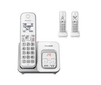 panasonic kx tgd532w 3 handset cordless phone