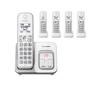 panasonic kx tgd532w 5 handset cordless phone