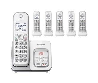 panasonic kx tgd532w 6 handset cordless phone
