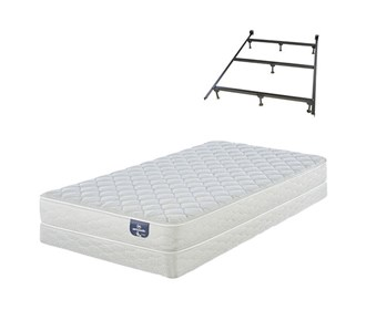 serta 100 firm mattress and box spring set with frame