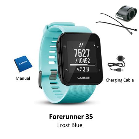 garmin forerunner 35 frost blue mount bundle
