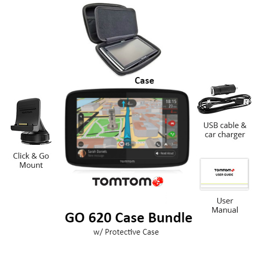 tomtom go 620 case bundle w hard protective