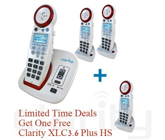 clarity xlc3_4plus amplified phone plus 2 handsets get the third free