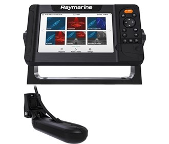 raymarine element 7 hv mfd combo w/hv 100 transducer and navplus central and south america chart