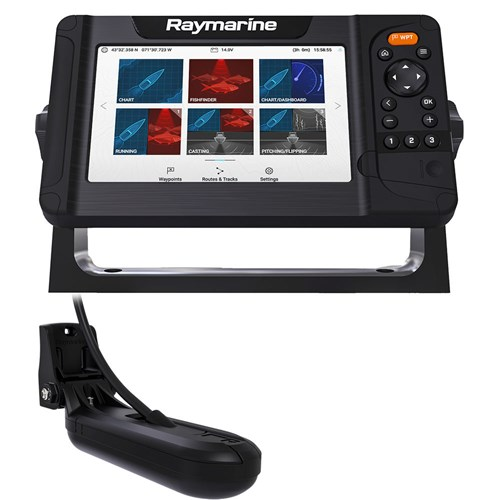 raymarine element 7 hv combo with hv 100 transducer