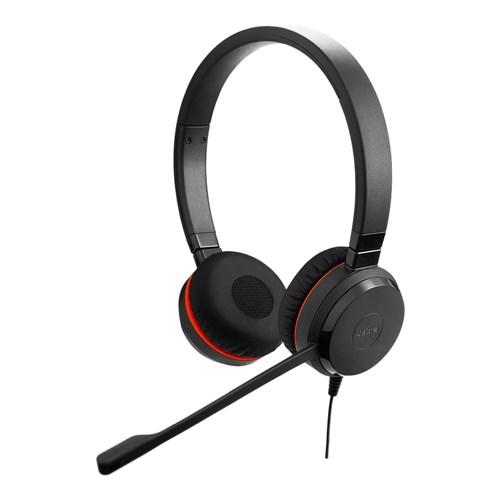 jabra evolve 20se uc stereo with leatherette ear cushions