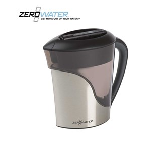 zerowater 11 cup stainless steel water filter pitcher zs 011rp