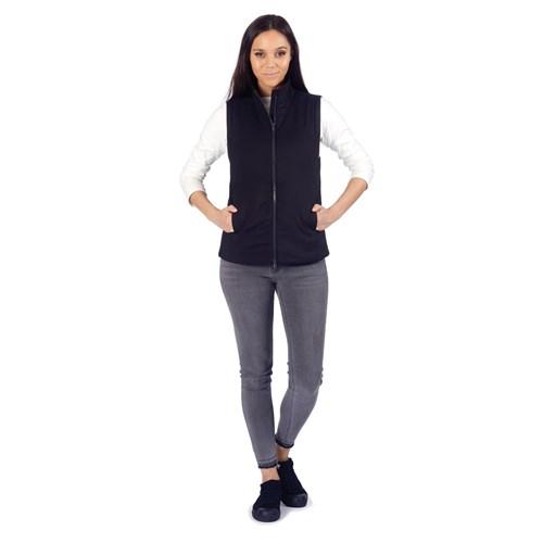 pacsafe transit womens insulated vest jet black